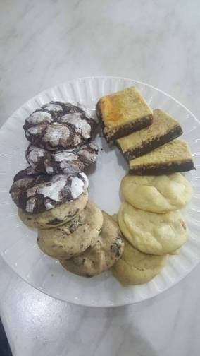 Chocolate Crinkles,Cheesecake Brownies,White Choco Chunk Cookies and Dark Chocolate Cookies