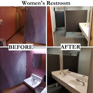 Women's Restroom Before & After