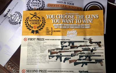 My first Official Sweepstakes Entry from the NRA