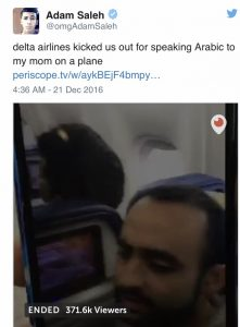 Delta kicks passenger off airplane for speaking Arabic
