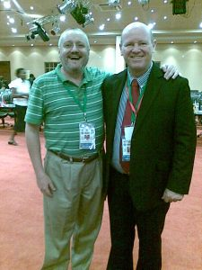 The author and Mr. Alain St. Ange at a past conference attendance