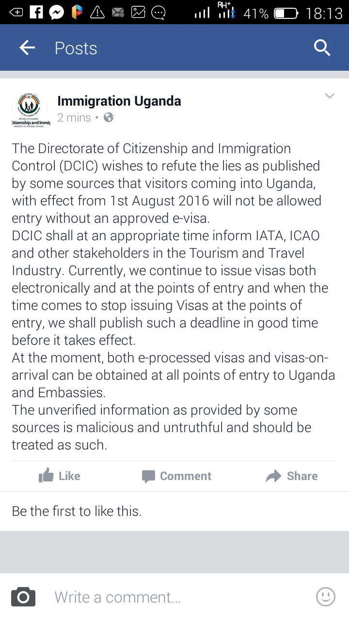 Immigration notice 28Jul16
