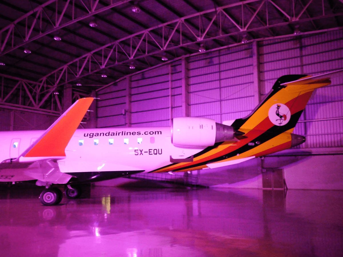 #AviaDevAfrica2019's Welcome Party showcases #UgandaAirlines #CRJ900