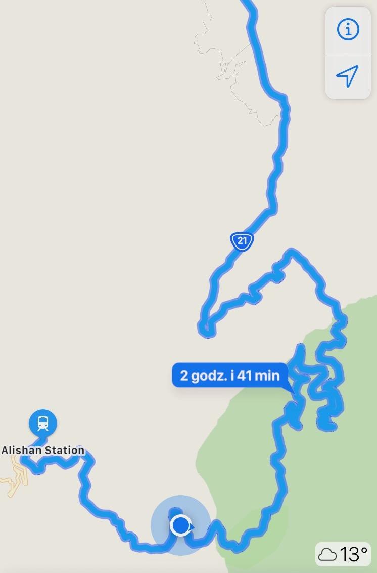 Trasa z Alishan nad jezioro Sun Moon