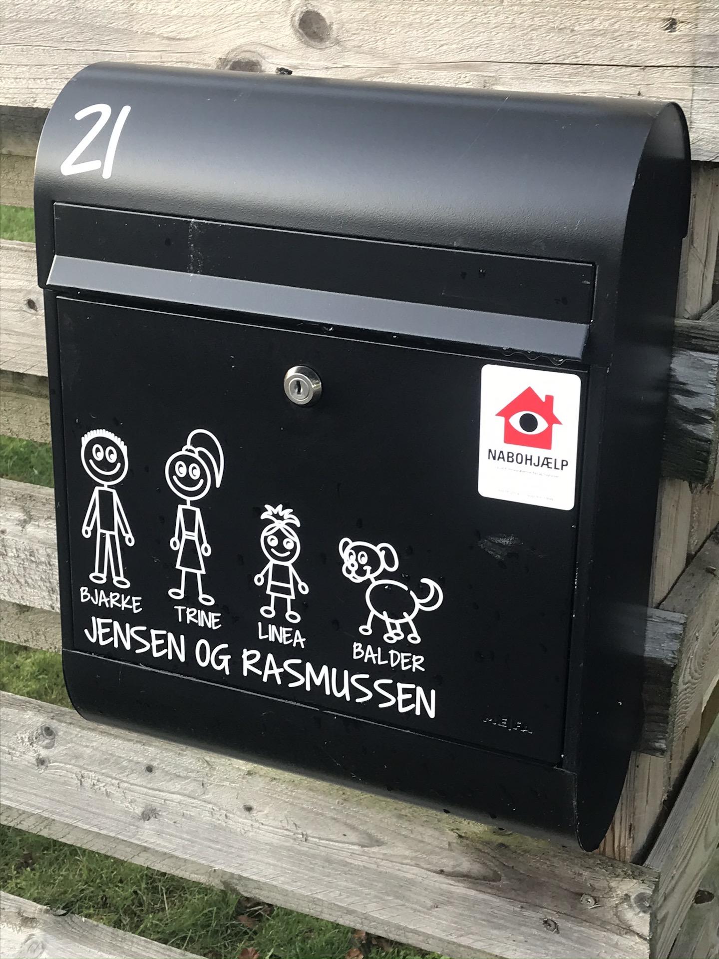 Duńska skrzynka na listy