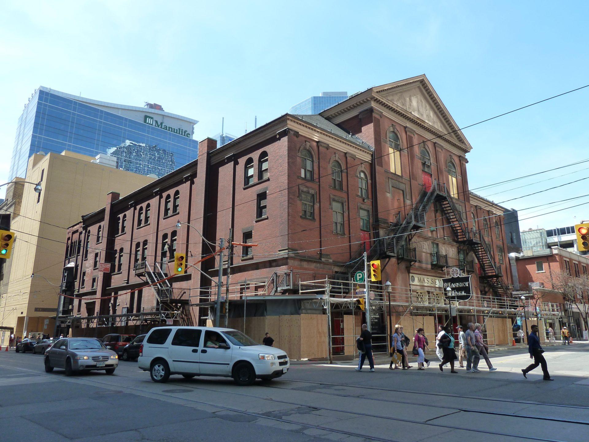 Budynek teatru Massey Hall w Toronto
