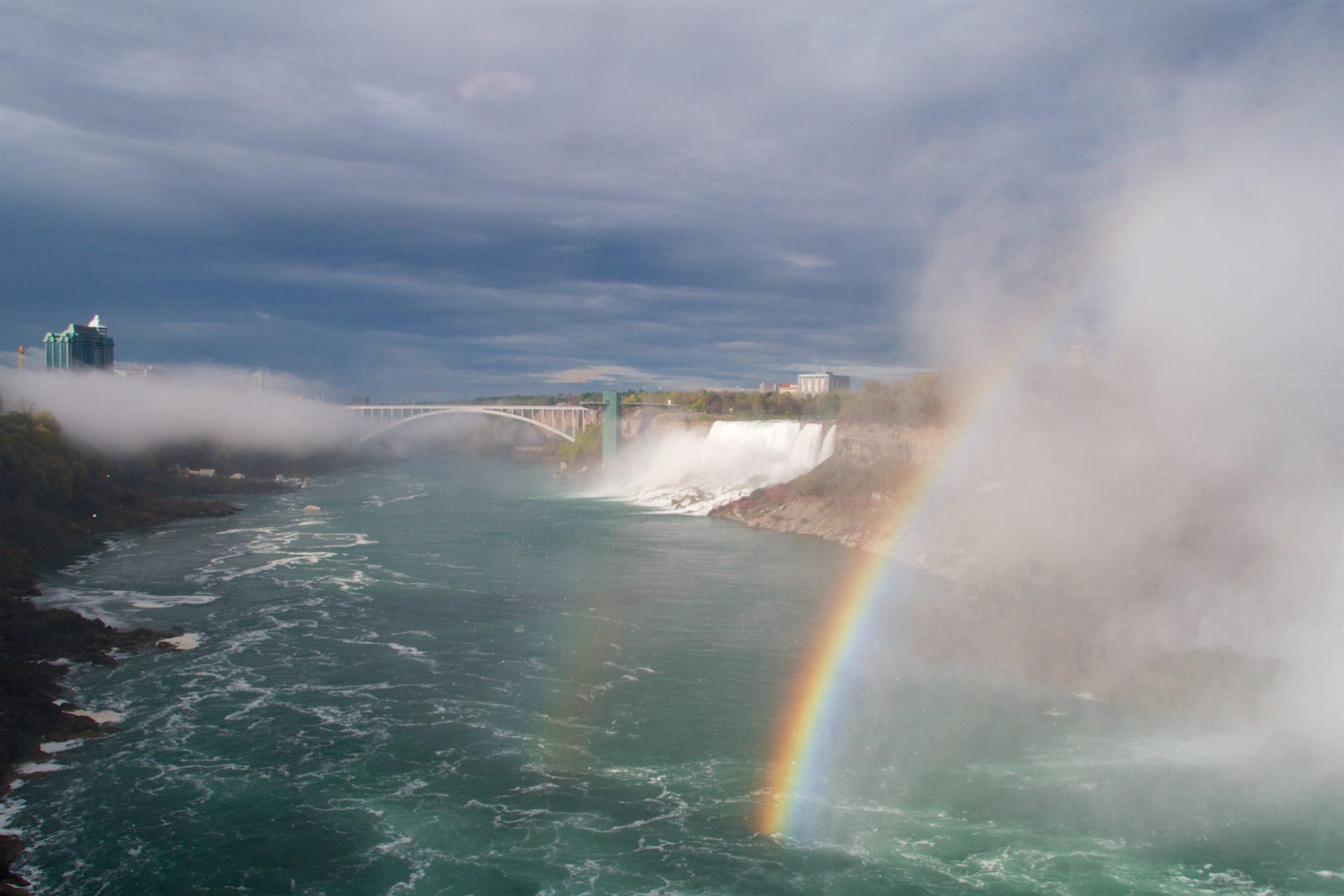 Tęcza nad wodospadem Niagara