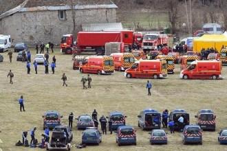 Fotografía del Ministerio del Interior francés en la zona cero del accidente