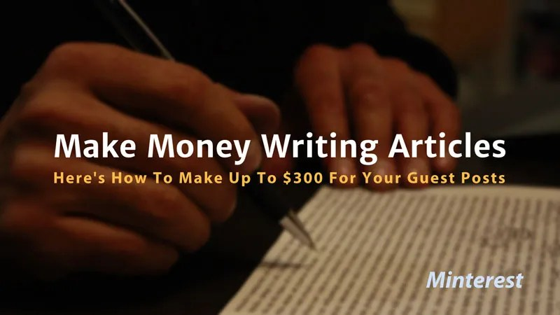 How to make money online writing Articles