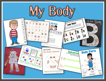 graphic relating to Preschool Memory Book Printable titled My Physique Printables A Training Mommy