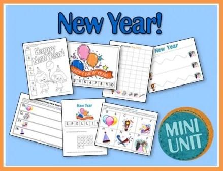 New Year Preschool Printables
