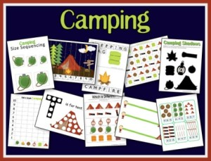 Free Camping Preschool Unit!