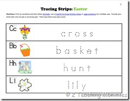 K Tracing Strips Easter