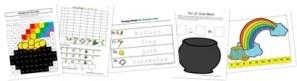 St. Patrick's Day Kindergarten Extension Pack