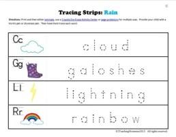 K Tracing Strips Rain