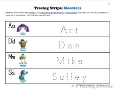 K Tracing Strips Monsters