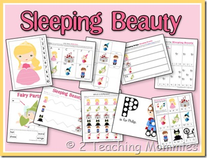 Free Sleeping Beauty PreK Pack