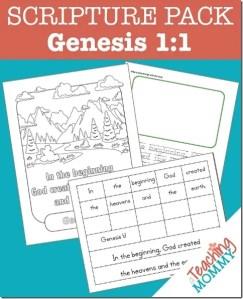 Genesis 1:1 Scripture Pack {Free Printables}