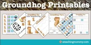 Super Bowl and Groundhog Printables
