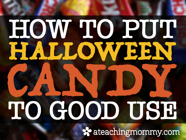 Did your kiddos end up with more Halloween candy than they need? Well, don't let them eat all of it! Check out this post to learn how you can put it to good use.