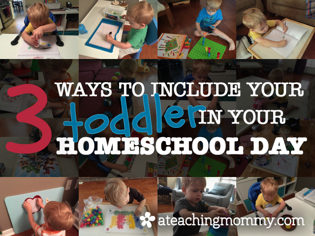 Homeschooling with a toddler is hard, but with these 3 simple steps you can include your toddler in your homeschool day.