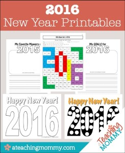 FREE 2016 New Year Printables