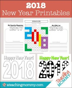FREE 2018 New Year Printables
