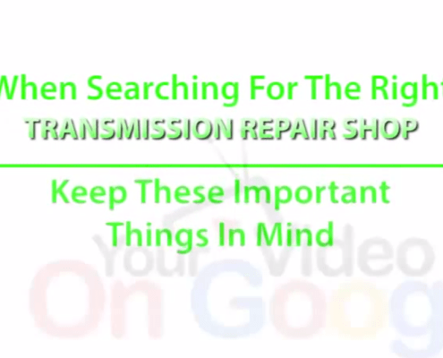 Transmission Things to Keep In Mind