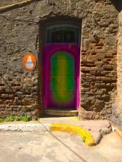 Decorated door in Galata.