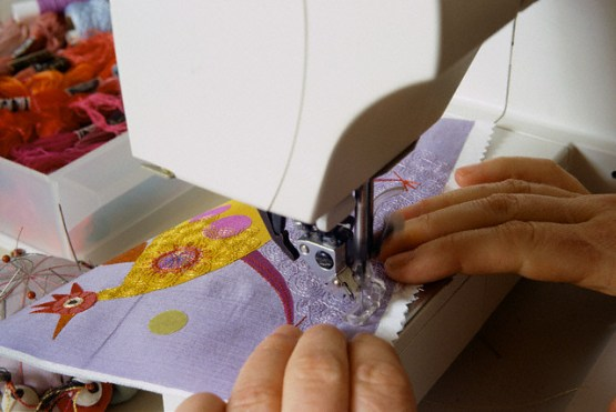 Nancy Nicholson Embroidering Designs with Sewing Machine