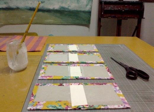 preparação das capas e lombada