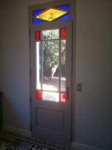 porte -d'entrée-vitrail-vitraux -couleur-originale
