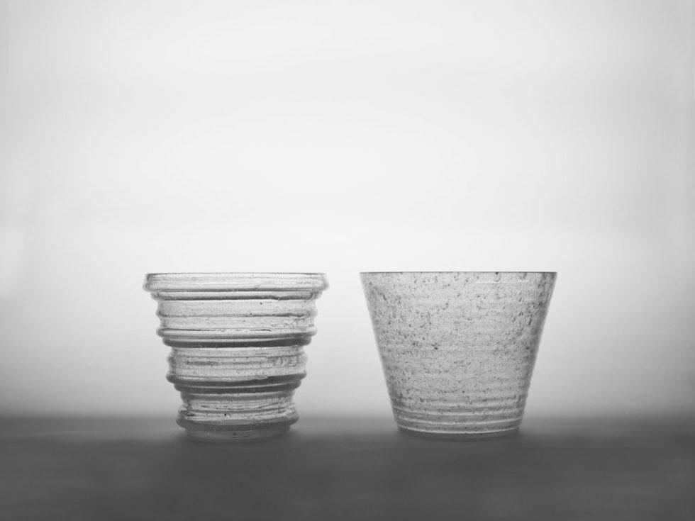 verre soufflé verre recyclé moule modulable strates fait-main
