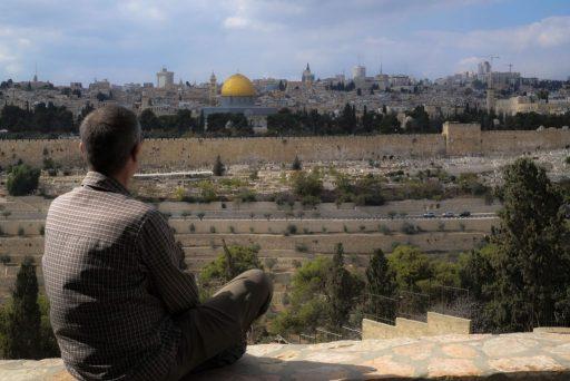 Meditation mit Blick auf Jerusalem