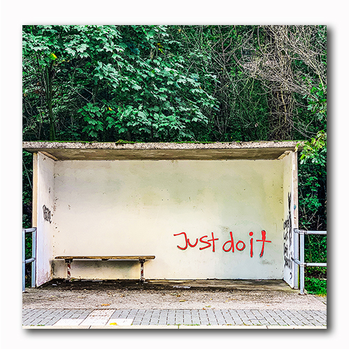 Just do it Graffiti Bild auf Holz