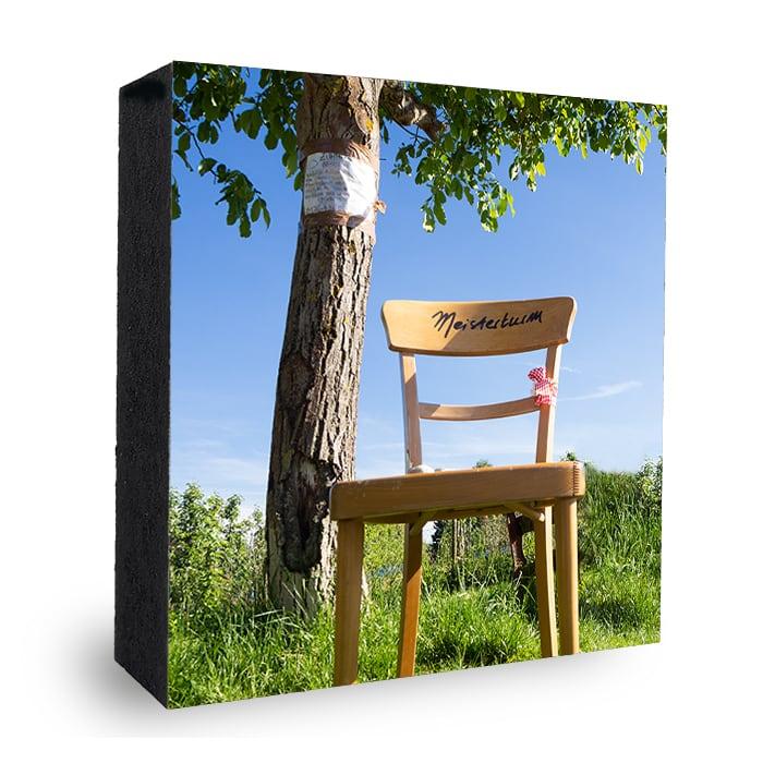 zum Meisterturm _Bild auf Holz