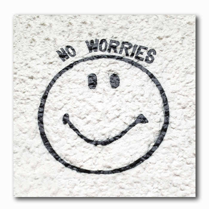 No Worries Smily Graffiti