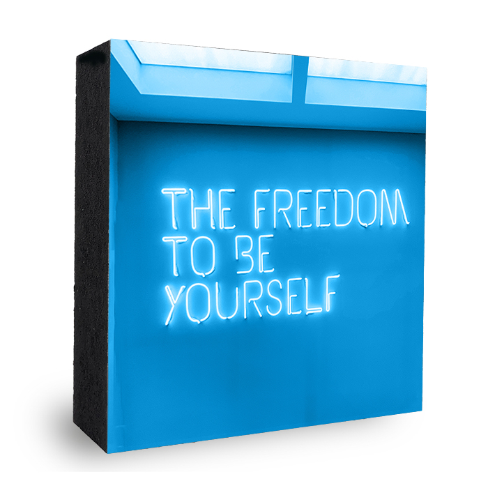 The Freedom to be yourself - Foto auf Holz