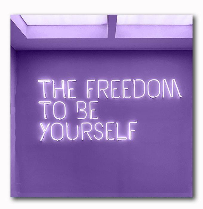 Bild Freedom in Neonschrift
