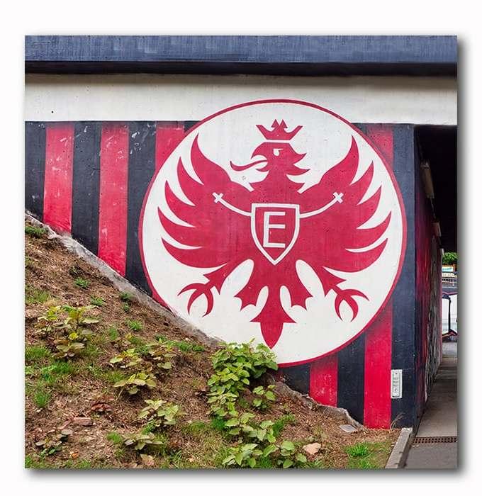 Eintracht Attila Graffitie Mauer