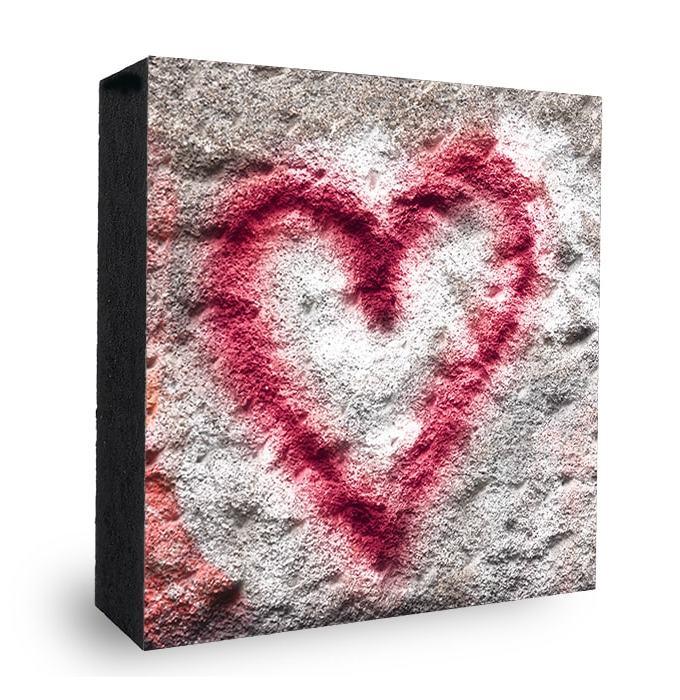 Herz Graffiti Bild auf Holz