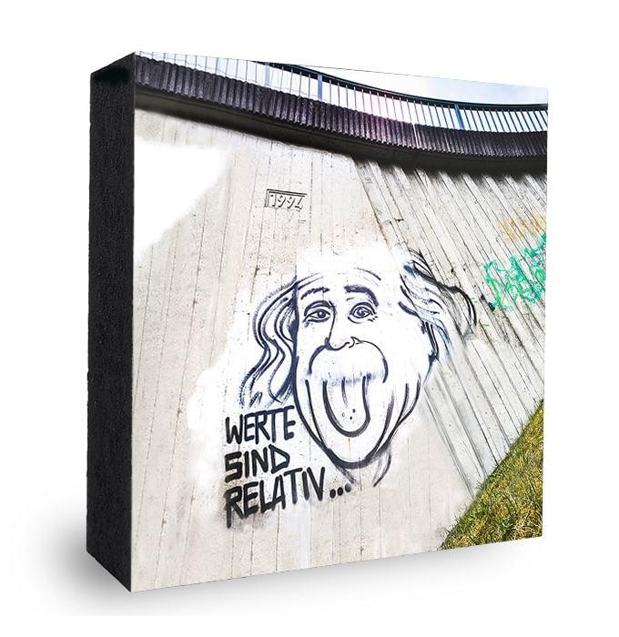 Einstein Werte sind relativ Graffiti