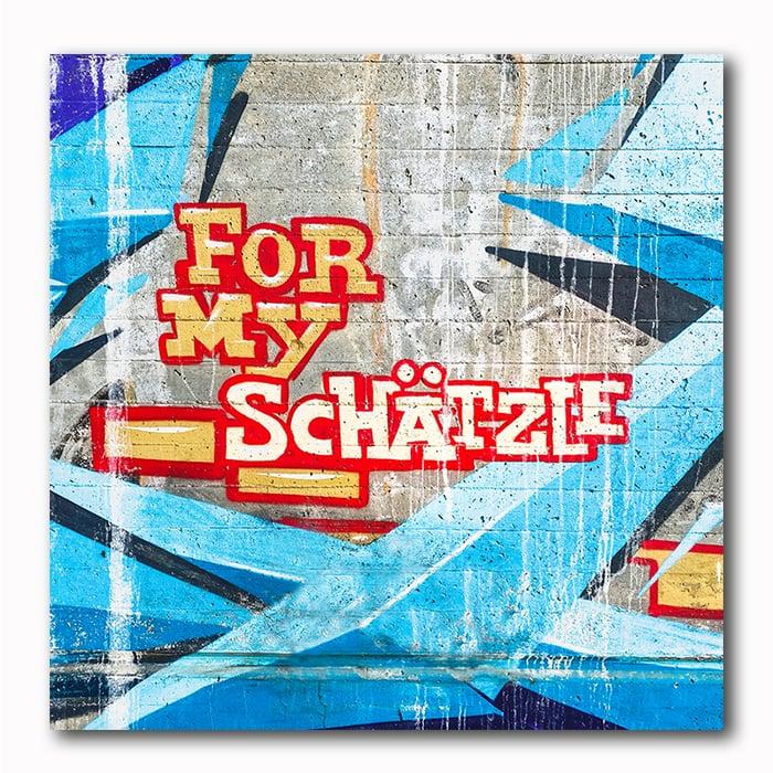 For my Schätzle Graffitie Bild auf Holz