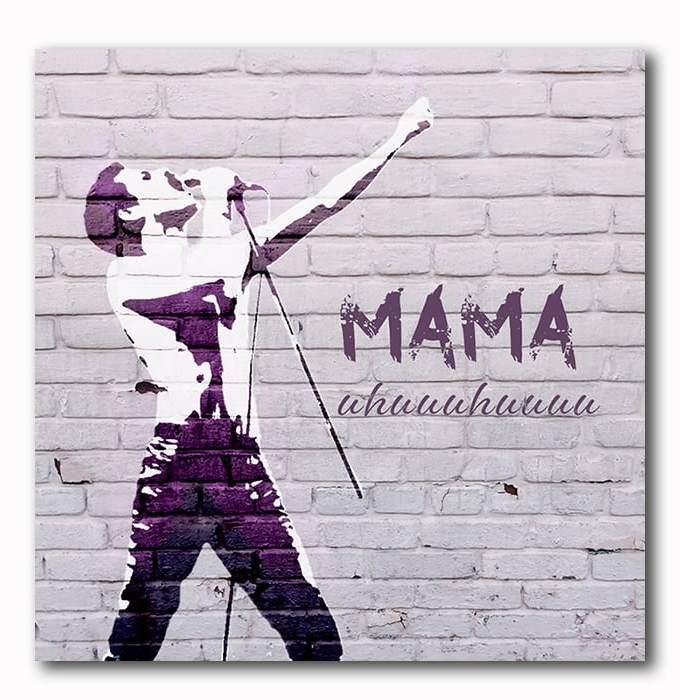 Mama, Queen, Bohamian Rhapsoda, Bild auf Holz, Muttertag