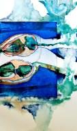 Radierung/ Aquarell/ Kreide; 70x50; 2017; 530€
