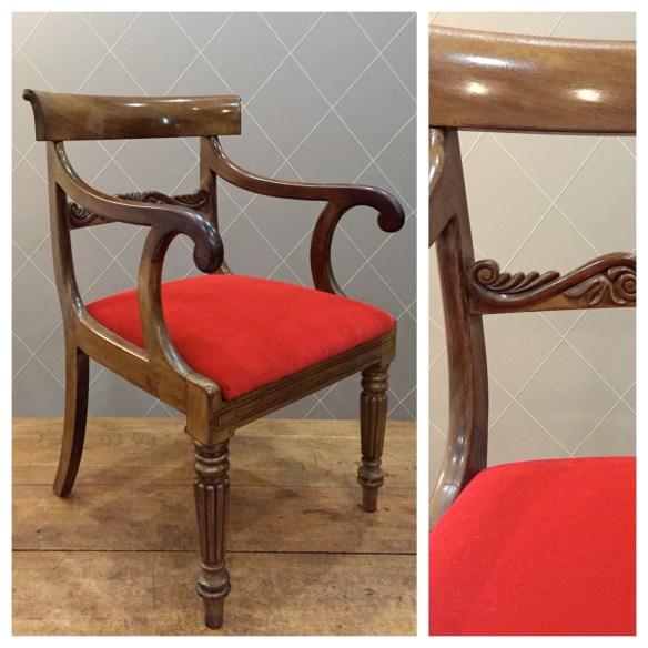 Rouge vif pour fauteuil Empire - Atelier MD2