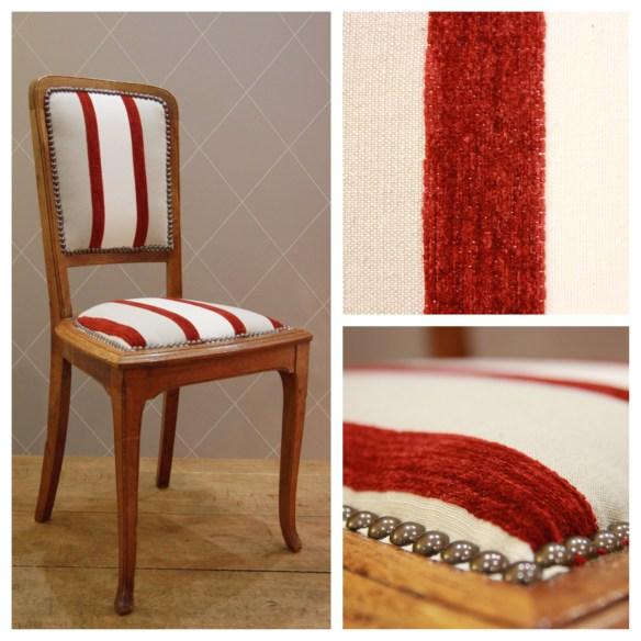Fine chaise en rayure - Atelier MD2