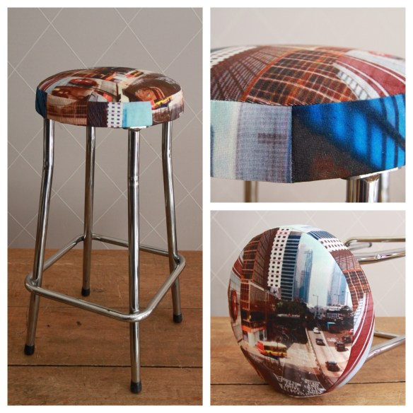 Tabouret inspiration Paul Smith - Atelier MD2