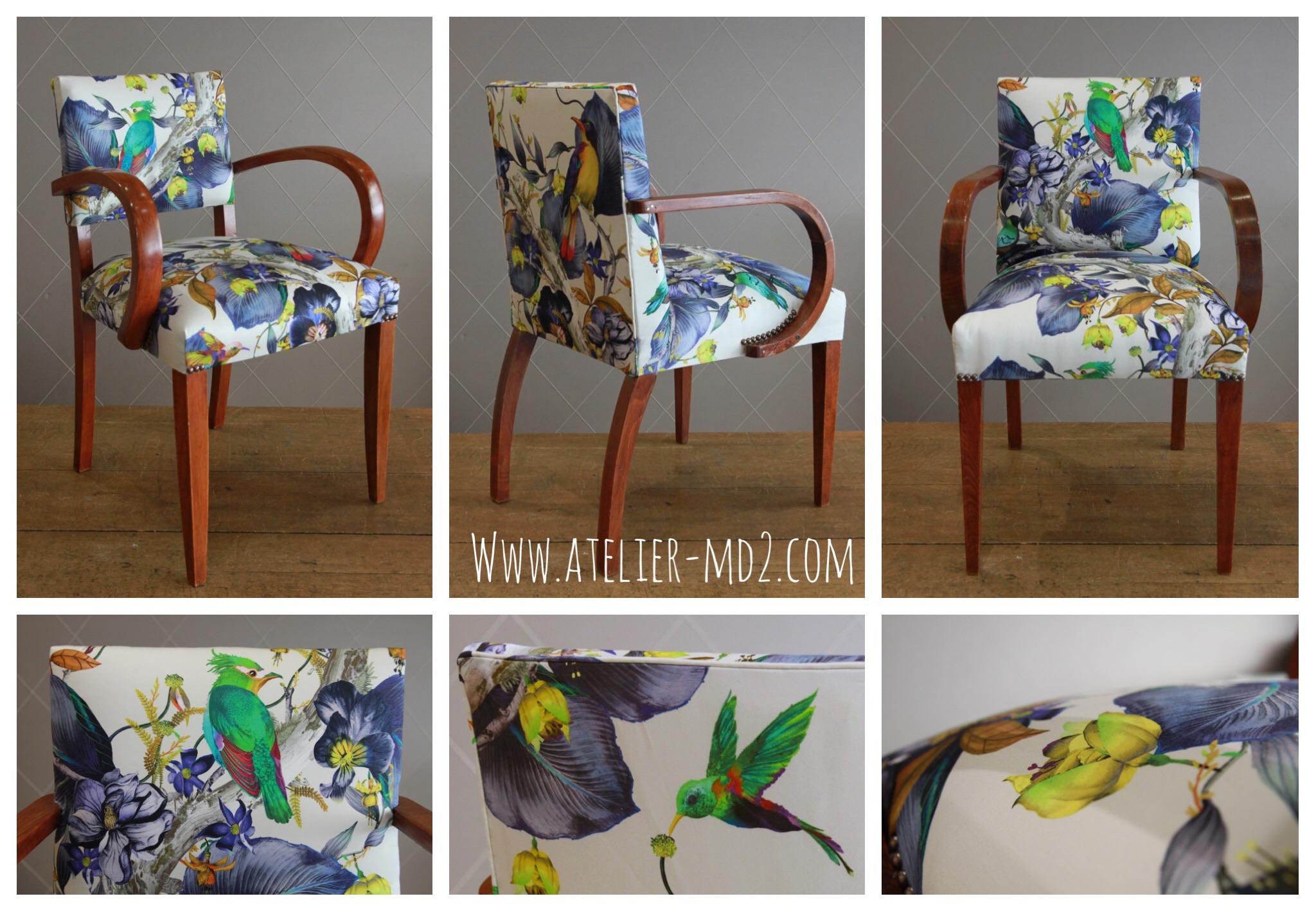 Rencontre entre deux fauteuils bridge et le Tissu Rainforest