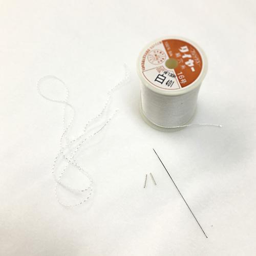 パール糸替え・絹糸